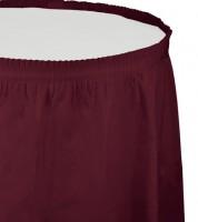 Tischverkleidung - burgund - 4,26 m