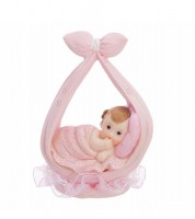 "Deko-Figur ""Baby in Windel"" - rosa"
