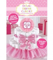 "Windeltortenbastel-Set ""It's a Girl"" - 4-teilig"