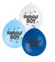 "Luftballon-Set ""Birthday Boy"" - blau/hellblau/weiß - 10 Stück"