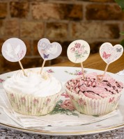 "Cupcake-Picks ""With Love"" - 20 Stück"