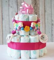 Windeltorten geschenke babyparty baby belly party for Windeltorte anleitung mit bildern