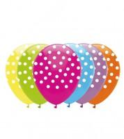 "Luftballon-Set ""Polka Dots"" - bunt - 6 Stück"