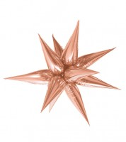 "Supershape-Folienballon ""Stern"" - rosegold"