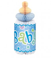 """Wabenaufsteller """"Babyflasche"""" - blau"""