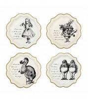 """Pappteller """"Alice im Wunderland"""" - 12 Stück"""