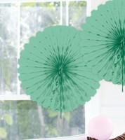 Papier-Deko-Fächer - 45 cm - mintgrün