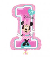 "Supershape-Folienballon ""Minnie 1st Birthday"""