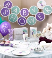 "Schriftzuggirlande ""Showered With Love"" - Baby Shower - 3 m"