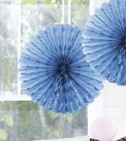 Papier-Deko-Fächer - 45 cm - hellblau