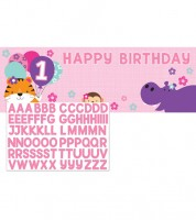 """Großer Partybanner """"One is Fun - Girl"""" - 152 x 51 cm"""