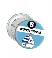 """Dein Button """"Boot"""" - Wunschtext"""