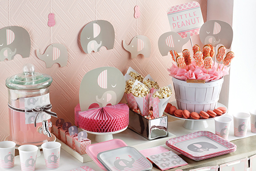 baby shower deko f r m dchen deko serien babyparty baby belly party. Black Bedroom Furniture Sets. Home Design Ideas