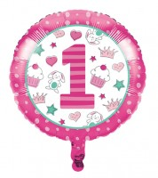 "Runder Folienballon ""Happy One - pink"""
