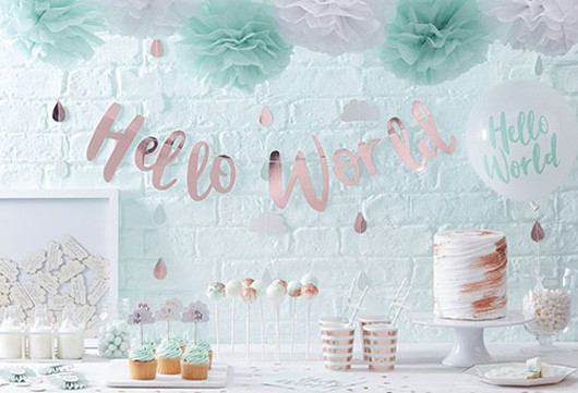Neutrale Baby Shower Deko | Deko-Serien | Babyparty | Baby Belly Party