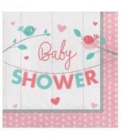 """Servietten """"Hello Baby - rosa"""" - Baby Shower - 16 Stück"""