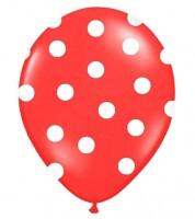 """Luftballons """"Big Dots"""" - rot - 6 Stück"""