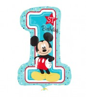 "Supershape-Folienballon ""Mickey 1st Birthday"""