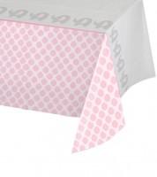 """Kunststoff-Tischdecke """"Kleiner Elefant - rosa"""" - 137 x 259 cm"""