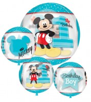 "Kugel-Folienballon ""Mickey 1st Birthday"""