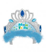 "Krone ""Mom to Be"" - blau"