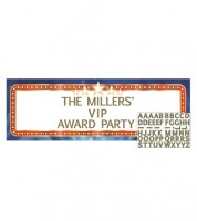 "Individualisierbarer Partybanner ""Hollywood Lights"" - 152,4 cm"