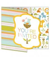 """Einladungskarten """"Tierfreunde"""" - 8 Stück"""