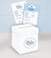 """Babyparty-Spiel """"Oh Baby"""" - blau - 21-teilig"""