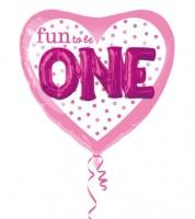 "Multi-Folienballon mit 3D-Effekt ""Fun to be One"" - rosa/pink"
