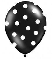 """Luftballons """"Big Dots"""" - schwarz - 6 Stück"""