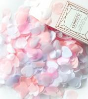"""Seidenpapier-Konfetti """"Herzen"""" - rosa/weiß - 4 g"""