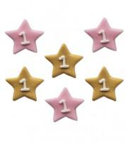 """Zuckerdekor """"One Little Star - Girl"""" - 6 Stück"""
