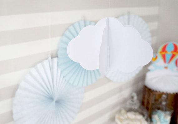 3D Wolken aus Papier