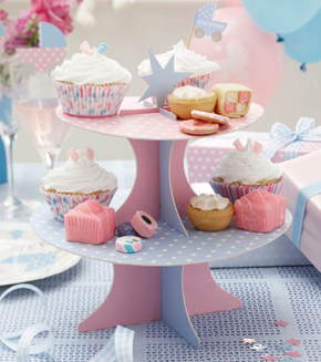 S er cupcakest nder f r die baby shower for Baby shower party deko