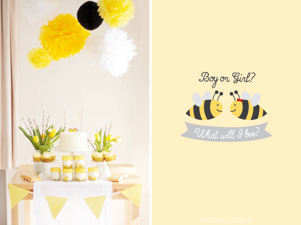 what will i bee boy or girl eine baby shower mit bienen baby belly party blog. Black Bedroom Furniture Sets. Home Design Ideas