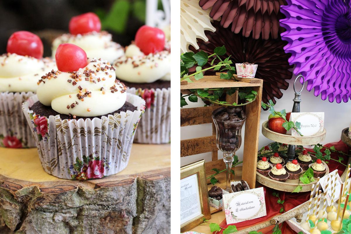 Cupcakes für den Sweet Table auf der Märchen Babyparty