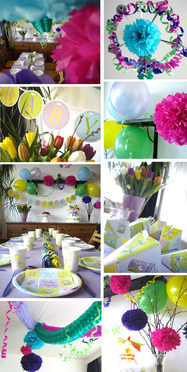 Baby shower mit babyparty deko von baby belly party baby for Baby shower party deko