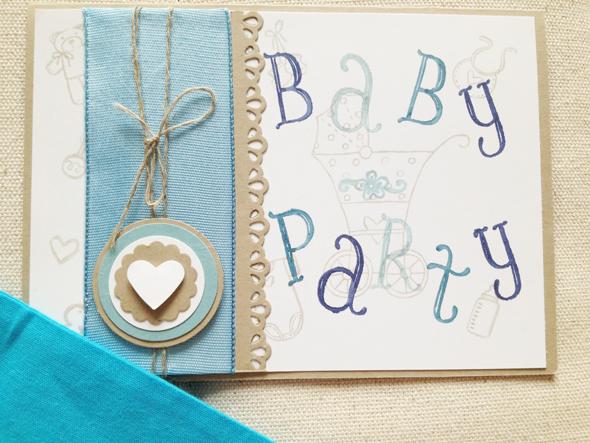 einladung babyparty – kathyprice, Einladungsentwurf