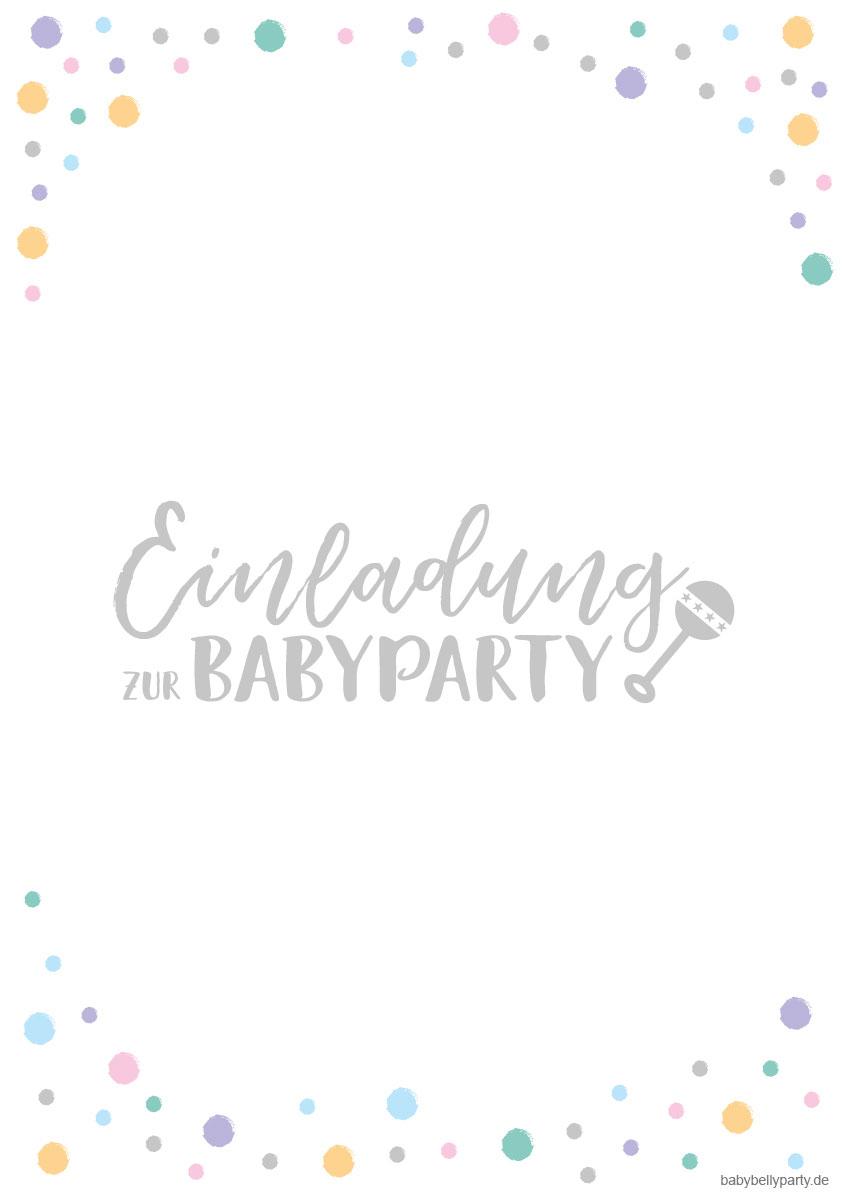 Kostenlose Babyparty Einladungskarten Zum Download Baby