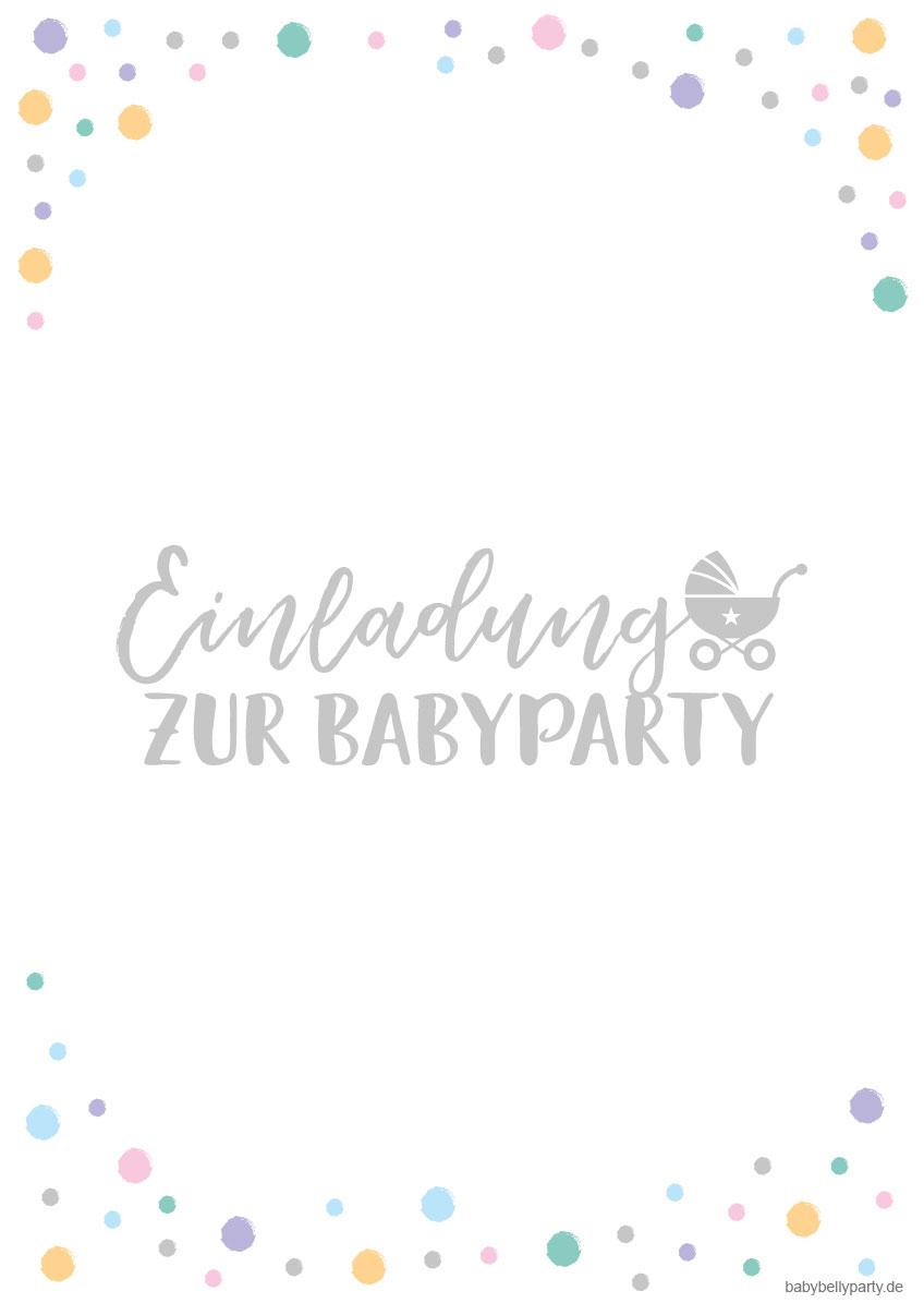 Gratis zum Download oder digital versenden: Babyparty Einladungskarten mit Kinderwagen-Motiv