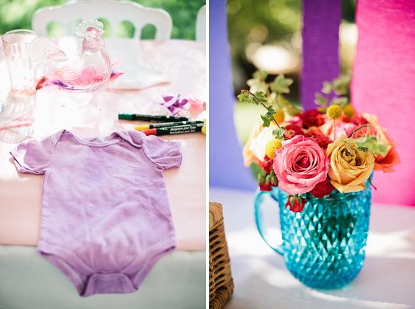 kreative babypartyspielidee babykleidung selbst bemalen