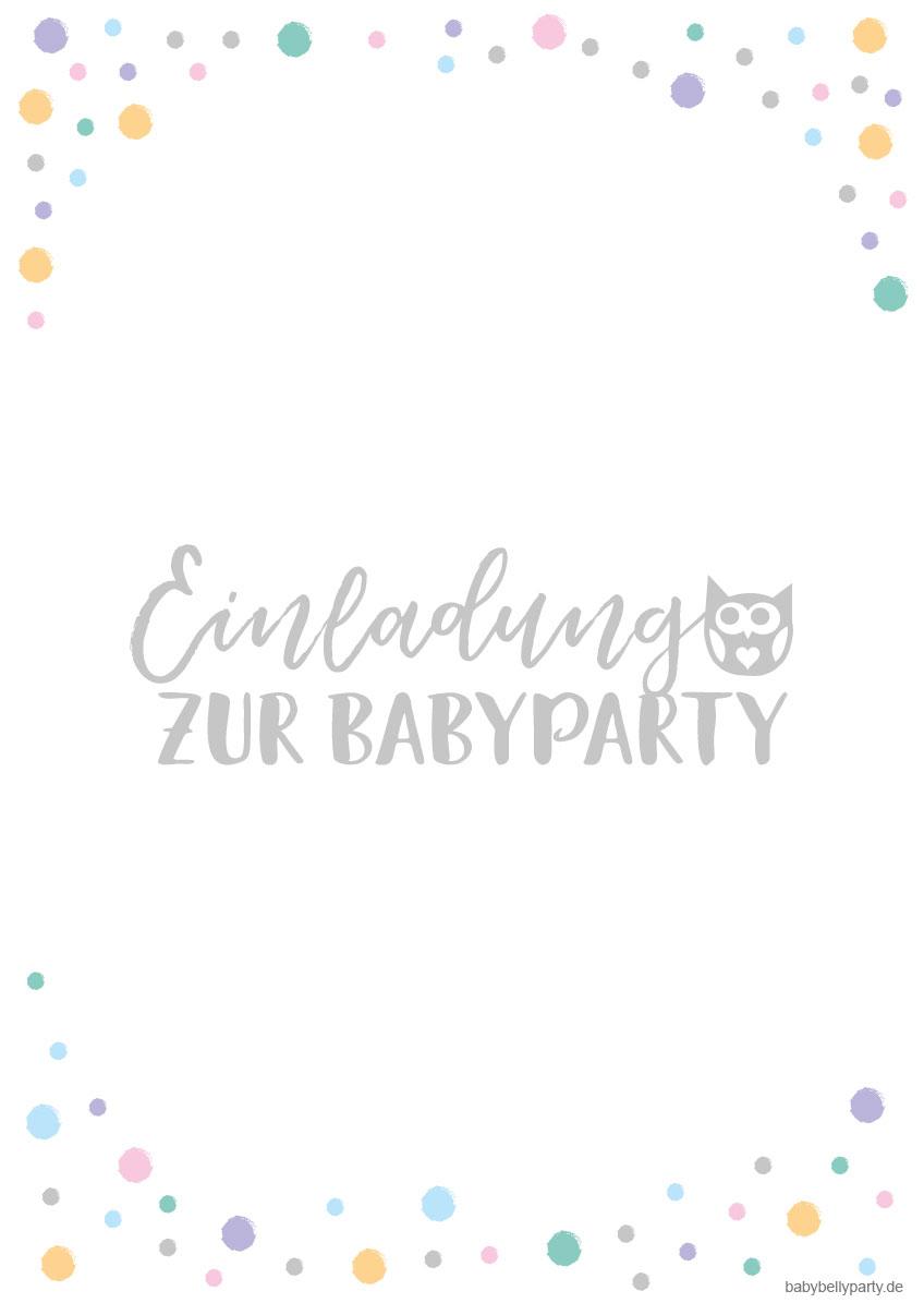 Babyparty Einladungskarten mit niedlichem Eulen-Motiv zum gratis Download
