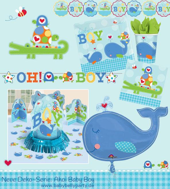 neue babyparty dekorationen mit vogel und wal motiven. Black Bedroom Furniture Sets. Home Design Ideas