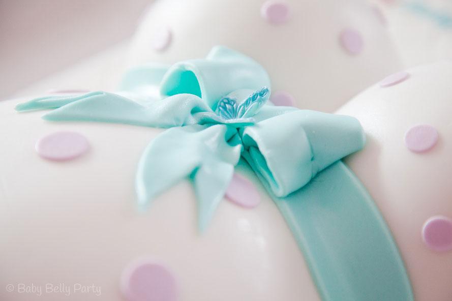 Gender Reveal Belly Cake