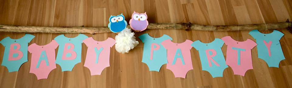 Baby Party Dekoration   Diese Tolle Eulen Girlande In Rosa Und Blau Ist Der  Star Auf