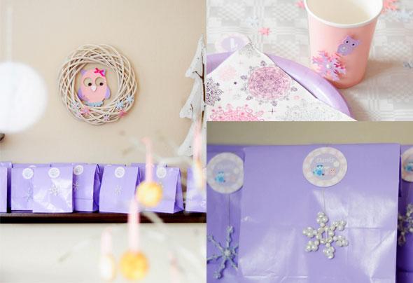 Gastgeschenke für die Geburtstagsfeier im Winter-Wonderland