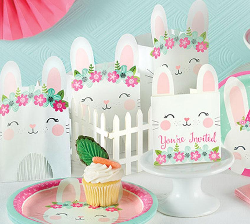 Perfekt für den 1. Geburtstag kleiner Mädchen: Häschen-Geschenktüten