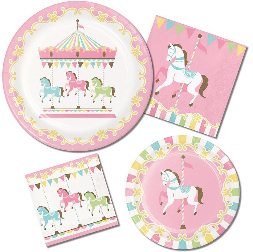 Nostalgisch und pastellig-schön: Karussell-Pferde zum 1. Geburtstag deines kleinen Mädchens