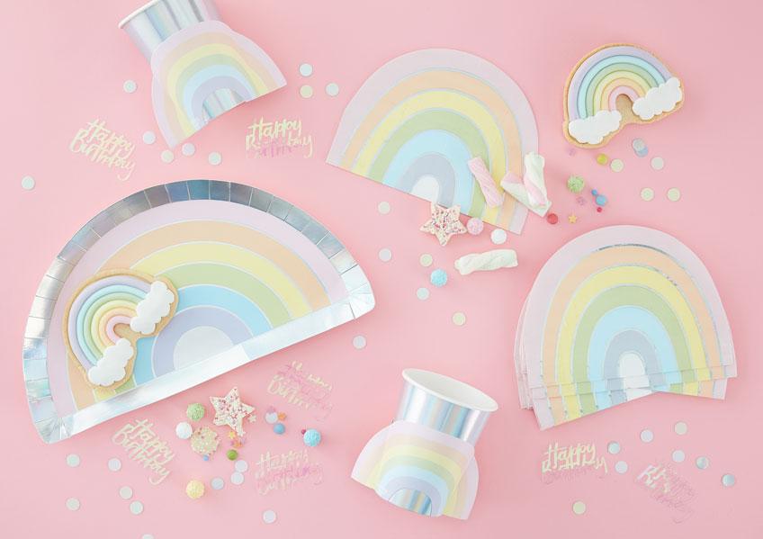 Süß und bunt - Regenbogen-Deko für den 1. Geburtstag
