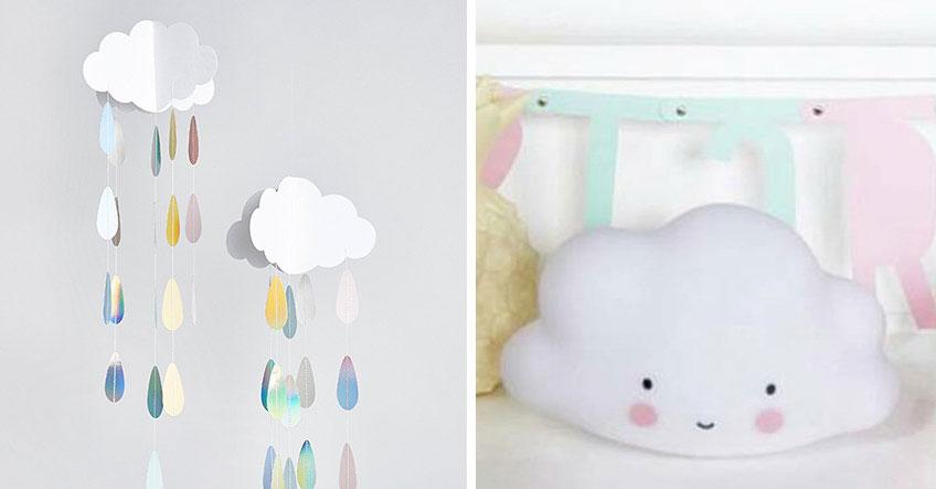 Bring alle zum Schwärmen mit Deko in fluffiger Wolkenform zum 1. Geburtstag